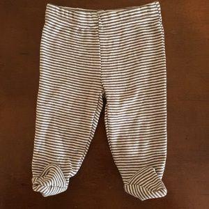Carter's striped footsie pants